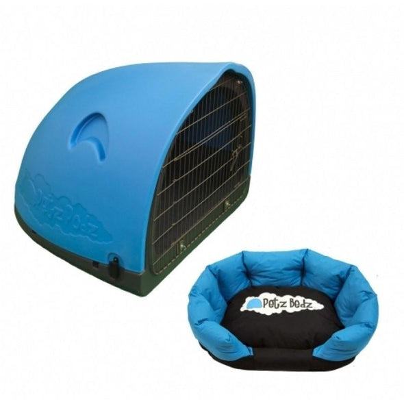 Petz Podz Pet carriers & crates Medium / Blue Puppy Revolution MultiPack Dog Den (incl. bed & cage) - by PetzPodz PP-00001 PetsOwnUs - Pets Own Us