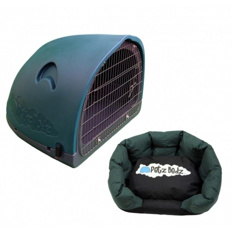 Petz Podz Pet carriers & crates Medium / Green Puppy Revolution MultiPack Dog Den (incl. bed & cage) - by PetzPodz PP-00001 PetsOwnUs - Pets Own Us