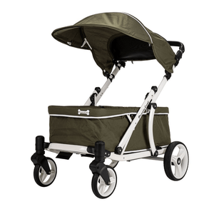 Piccolocane 3 wheel dog strollers Moss Green / No Piccolocane Crea Wagon Dog Stroller for XL Dogs > 100kg - Moss Green IPS-060-1 PetsOwnUs - Pets Own Us