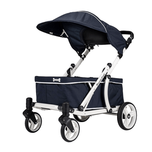 Piccolocane 3 wheel dog strollers Piccolocane Crea Wagon Dog Stroller for XL Dogs > 100kg - Navy Blue PetsOwnUs - Pets Own Us