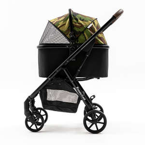 Piccolocane 4 wheel dog strollers Piccolocane® Eco Luxury Dog Stroller | Detachable Carry-Cot | Camouflage & Black DG618-Camo PetsOwnUs - Pets Own Us