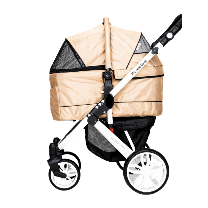 Piccolocane Tanto2 Luxury Dog Stroller with Free Rain Cover - Almond Beige