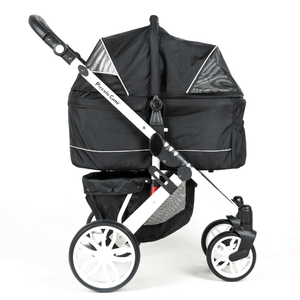 Piccolocane 3 wheel dog strollers Black Piccolocane Tanto2 Luxury Dog Stroller with Free Rain Cover - Black DG166-B PetsOwnUs - Pets Own Us