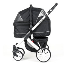 Piccolocane 3 wheel dog strollers Piccolocane Tanto2 Luxury Dog Stroller with Free Rain Cover - Black PetsOwnUs - Pets Own Us