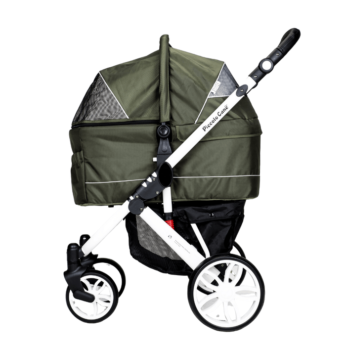 Piccolocane Tanto2 Luxury Dog Stroller with Free Rain Cover - Moss Green