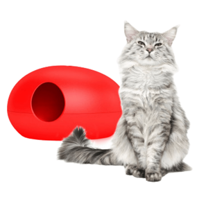 Sin Design Cat Litter Box Poopoopeedo Cat Litter by Sin Design - Red PetsOwnUs - Pets Own Us