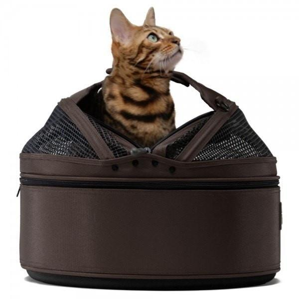 Sleepypod Mobile Cat Carrier & Bed, Dark Chocolate