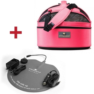 Sleepypod Pet Carrier & Crates Blossom Pink Sleepypod Mobile Pet Bed, Carrier & Warmer Kit Set, Blossom Pink PetsOwnUs - Pets Own Us