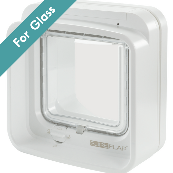 SureFlap Dual Scan Microchip Cat Flap for Multi Cats - Glass Installation