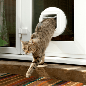 Sure Flap Smart Pet Tech White SureFlap Microchip Cat Flap - Door Installation 5060180390006 PetsOwnUs - Pets Own Us