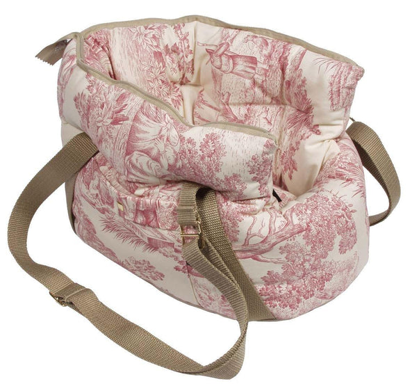 Suzy's Pet Carrier & Crates Small Baroque Luxury Shoulder Pet Carrier in Red by Suzy's 055-0130-RE-S PetsOwnUs - Pets Own Us