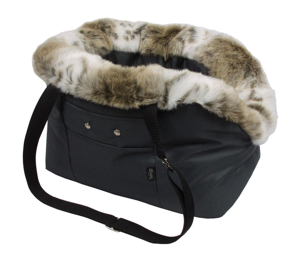 Suzy's Pet Carrier & Crates Small Coco Luxury Winter Orthopedic Pet Carrier by Suzy's 112-0139-GR-M PetsOwnUs - Pets Own Us