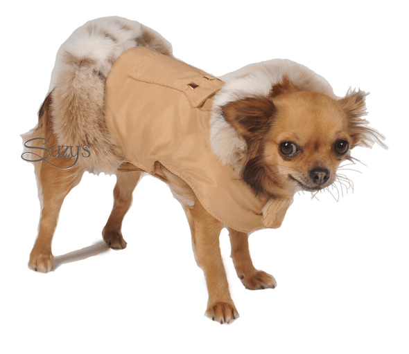Cupido Dog Ski Jacket in Beige By Suzy's - PetsOwnUs