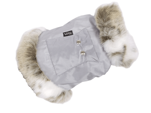Suzy's Dog Ski Jacket XSmall Cupido Dog Ski Jacket in Grey By Suzy's 069-1448-GR-XS PetsOwnUs - Pets Own Us