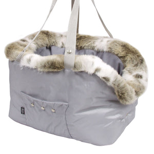 Suzy's Pet Carrier & Crates Small Cupido Luxury Deluxe Pet Carrier in Grey by Suzy's 069-0138-GR-S PetsOwnUs - Pets Own Us