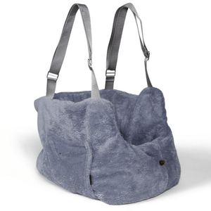 Suzy's Pet Carrier & Crates Small Teddy Bear Luxury Travel Pet Carrier in Grey by Suzy's 069-0138-BE-S PetsOwnUs - Pets Own Us