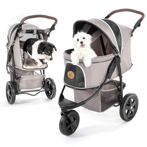 TogFit Pet Pushchairs and Strollers Pet Roadster by TogFit, Taupe Grey P63607 PetsOwnUs - Pets Own Us