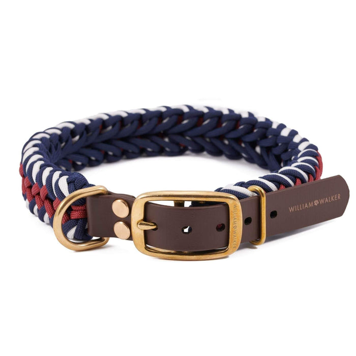 Paracord Dog Collar by William Walker - Royal