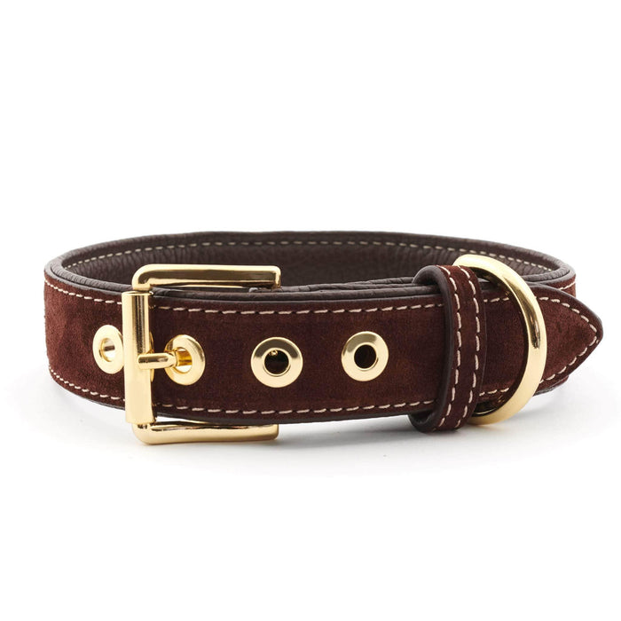 Suede Leather Dog Collar by William Walker - Makassar