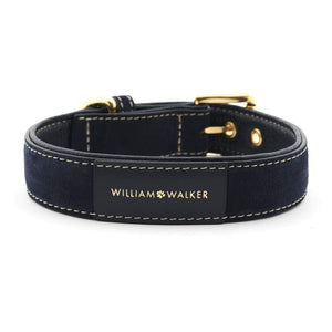 William Walker Dog Collar & Lead Suede Leather Dog Collar by William Walker - Midnight PetsOwnUs - Pets Own Us