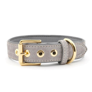 William Walker Dog Collar & Lead Suede Leather Dog Collar by William Walker - Sea Salt PetsOwnUs - Pets Own Us