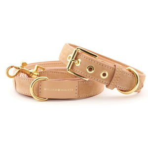 William Walker Dog Collar & Lead Suede Leather Dog Leash by William Walker - Coral PetsOwnUs - Pets Own Us