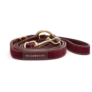 Suede Leather Dog Leash by William Walker - Lambrusco Dog Collar & Leash Material_Leather [Suede], Type_Leash William Walker
