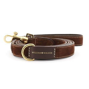 Suede Leather Dog Leash by William Walker - Makassar Dog Collar & Leash Material_Leather [Suede], Type_Leash William Walker