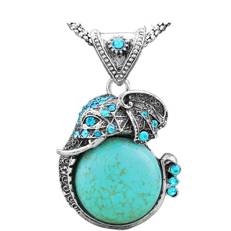 plated turquoise stone pendant gold necklace bezel earrings oval gemstone
