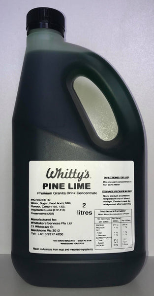 Whitty's  Slushie Mix - Pine Lime 2L