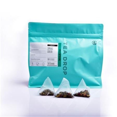 Tea Drop Spring Green Pyramid Teabags - 100pk