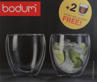 Bodum - PAVINA Double Wall Glasses Set of 6 + 2 FREE