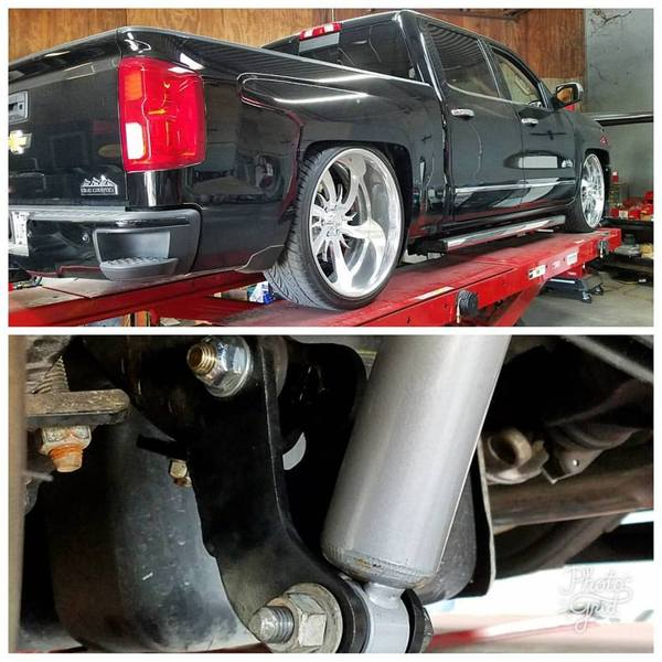 "2014-2018 6""-11"" Rear Drop Shocks, Belltech, 8510, Dropped Silverado, Sierra"