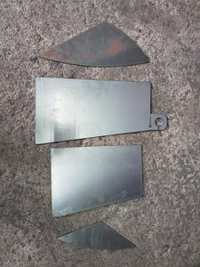 1999-2006  Silverado, Sierra, Fire Wall Notch Weld In Plates for Bagged & Dropped