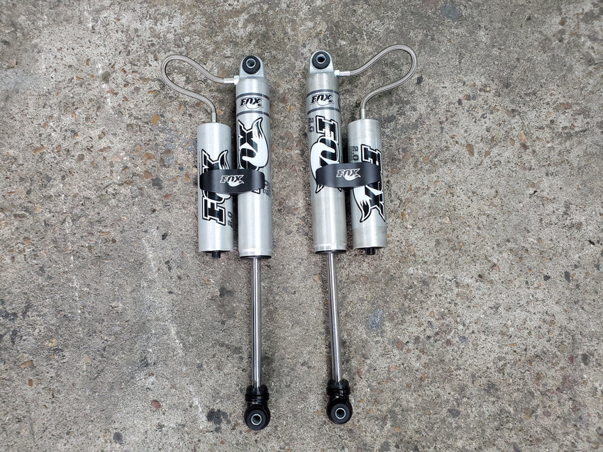 Fox Shocks 2.0 Reservoir Shocks for Rear Air Bag Suspension Kit Reklez Wishbone 3 Link