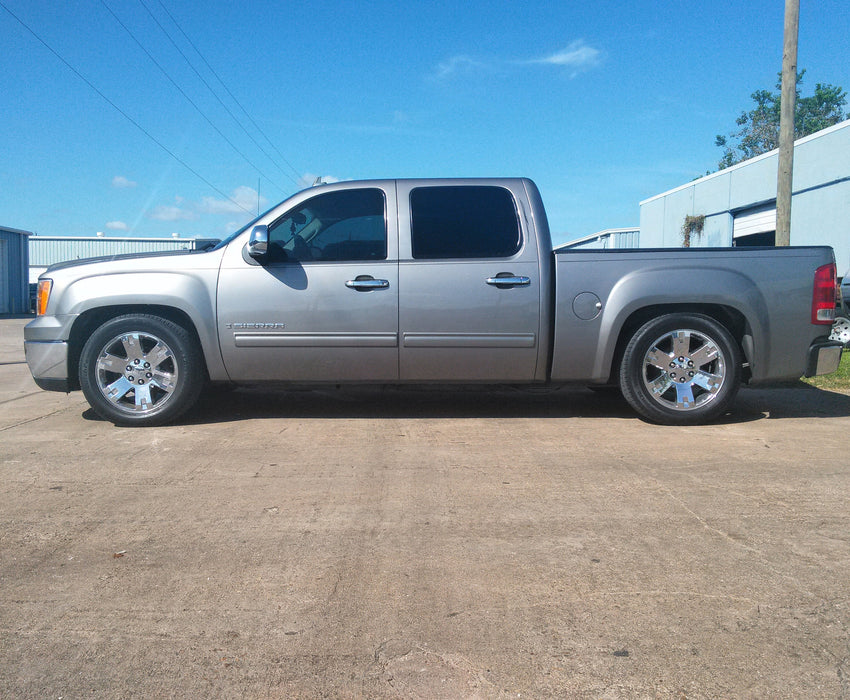 2007-2013 Silverado, Sierra, Adjustable Drop Kit, 3/5, 4/6, 4/7 2wd, 4x4,Cast Arms, All Cabs