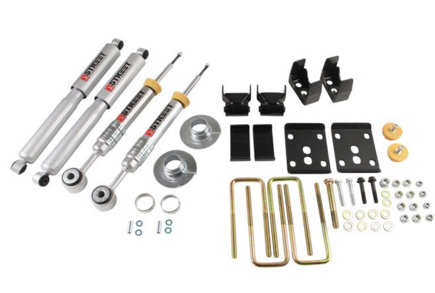 2009-2013 2wd & 4x4 Ford F150 3/5.5 Belltech Drop Kit 972SP with Street Performance Shocks