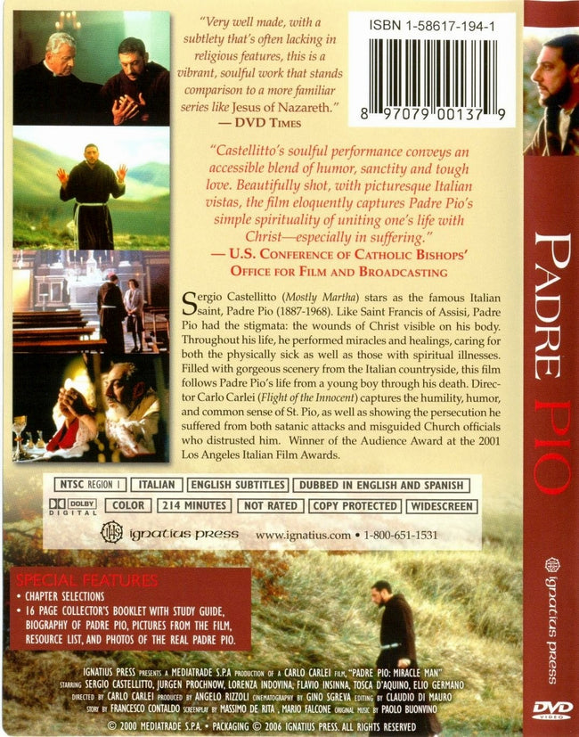 DVD: Padre Pio - Miracle Man