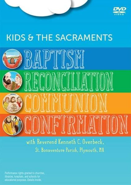 Introduce your kids, your classroom to four of the sacraments with this lively new video presentation. Each segment includes explanations from Father Ken, interviews with kids, on-screen storyboard Bible teaching, images from around the world, and 'on the road' field trips to explore in depth where certain things come from, like Baptism's water, the altar bread of Communion, and Confirmation oil. Your class will enjoy paying attention to this way of instruction!
