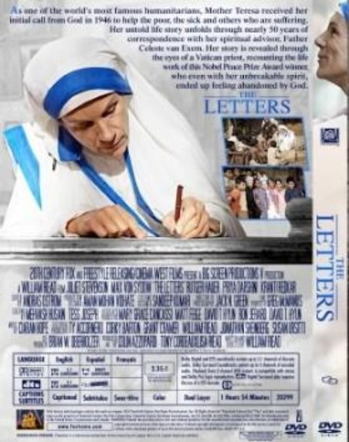 Based on her true story, THE LETTERS explores the life's work of Nobel Peace Prize recipient Mother Teresa, one of the greatest humanitarians of all time. Her selfless devotion to helping the poor changed hearts, transformed lives and inspired millions throughout the world. Told through a series of personal letters, this powerful film is an unforgettable journey of faith, courage and compassion.