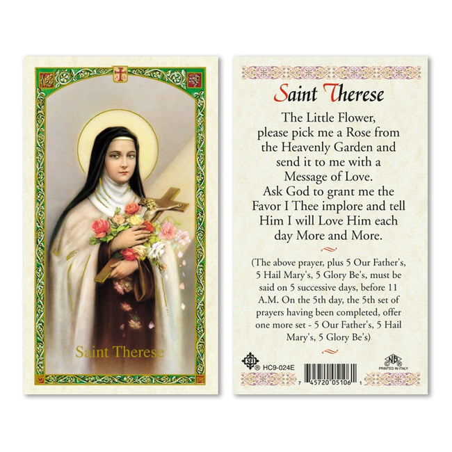 Santa Teresita/Saint Theresa - Estampa/ Holy Card