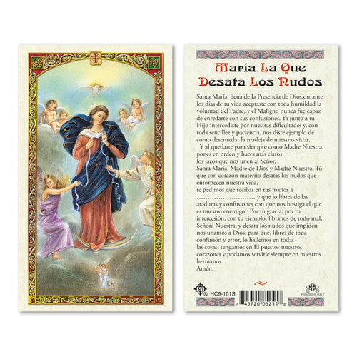 Virgen desata nudos/ Virgin untier of knots - Estampa/Holy card