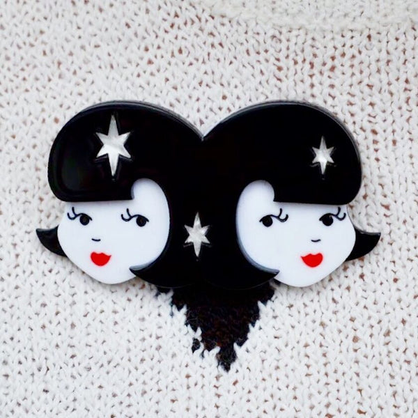 Gemini the Gentle Brooch