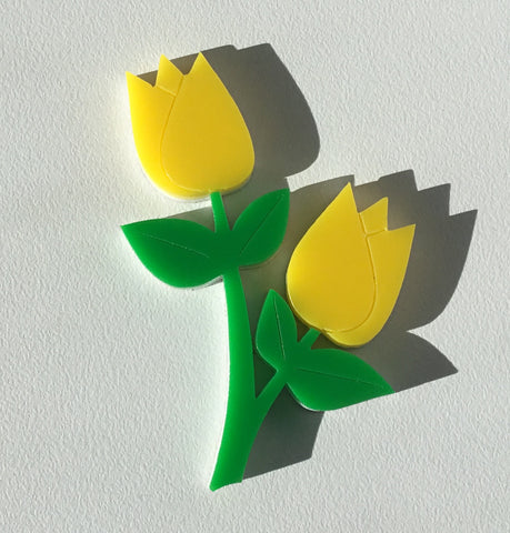 Yellow Tulip Brooch