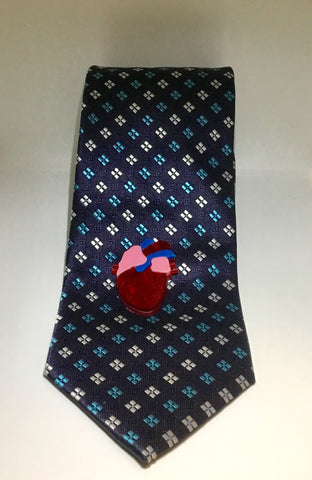 Be Still My Beating Heart Tie / Lapel Pin
