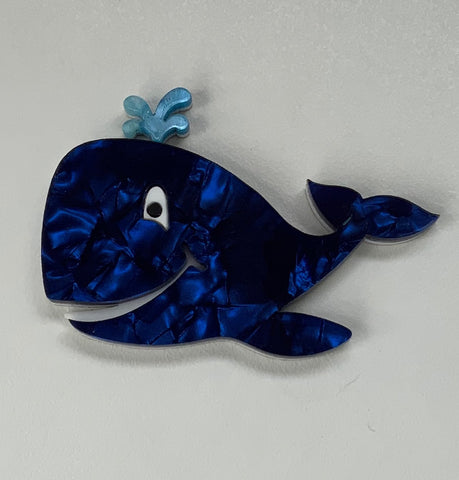 Bazza the Blue Whale Brooch