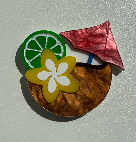 Lime & The Coconut Brooch