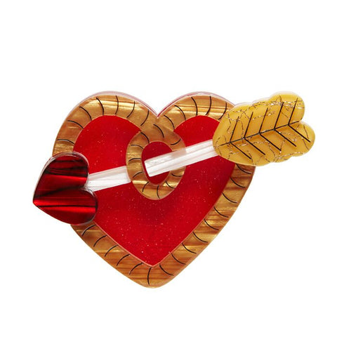 A Shot Through The Heart Brooch