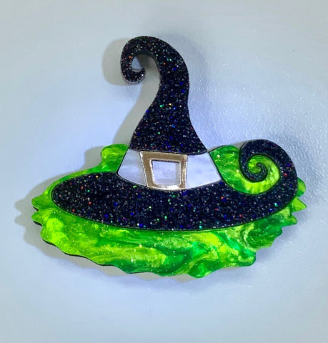 Aquaphobic Witch Brooch