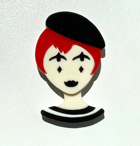 Mimi the Mime Brooch